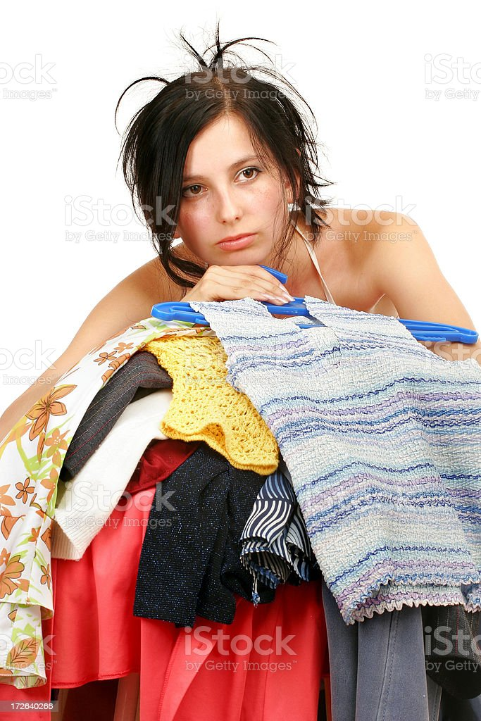Nothing to put on... royalty-free stock photo