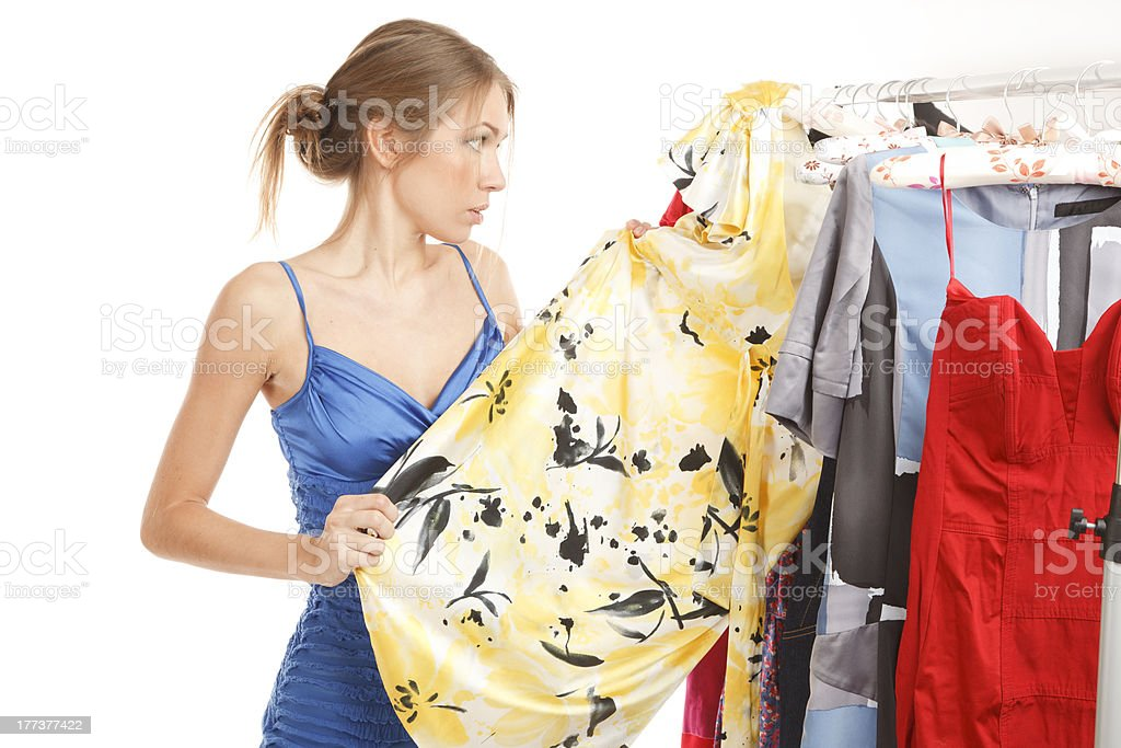 Nothing to wear! stock photo