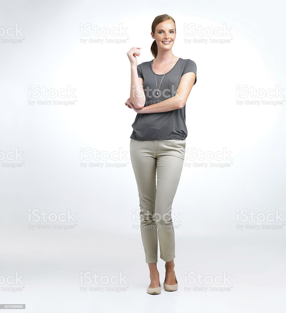 Nothing's a problem for her stock photo