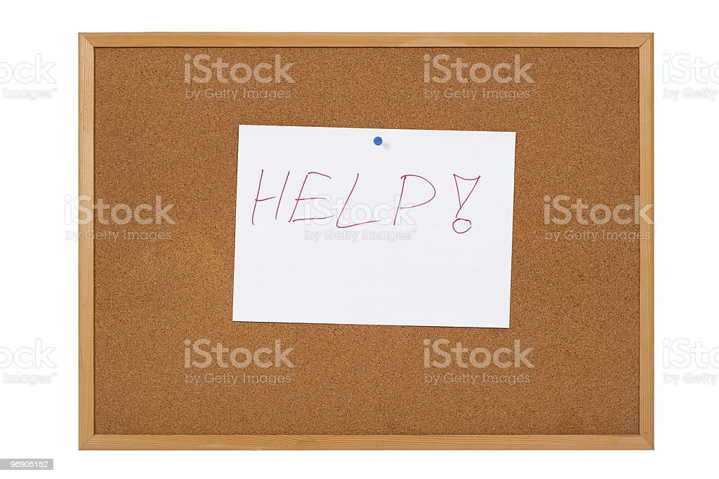 notice board - Help royalty-free stock photo