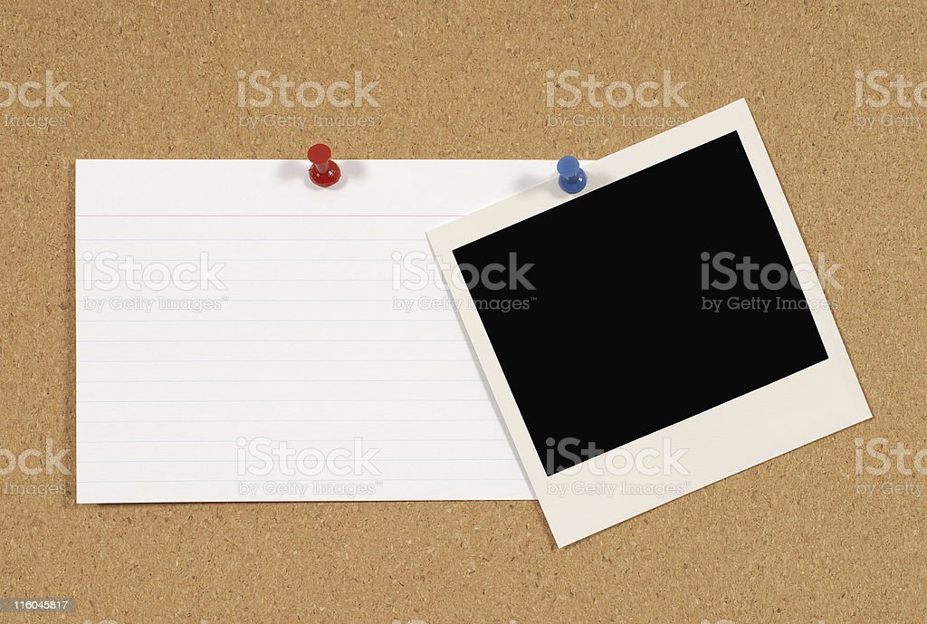 Notice board royalty-free stock photo