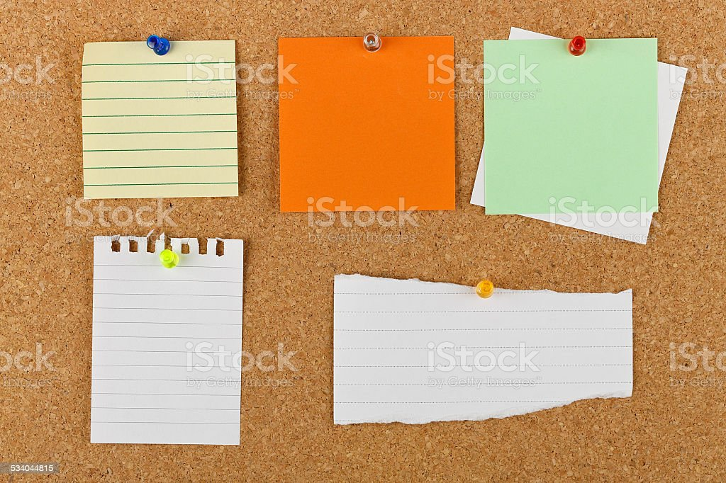 notice board stock photo