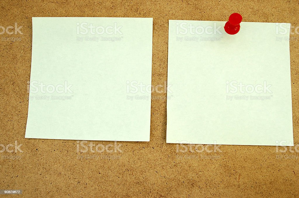 Notice board with post-it note #2 royalty-free stock photo
