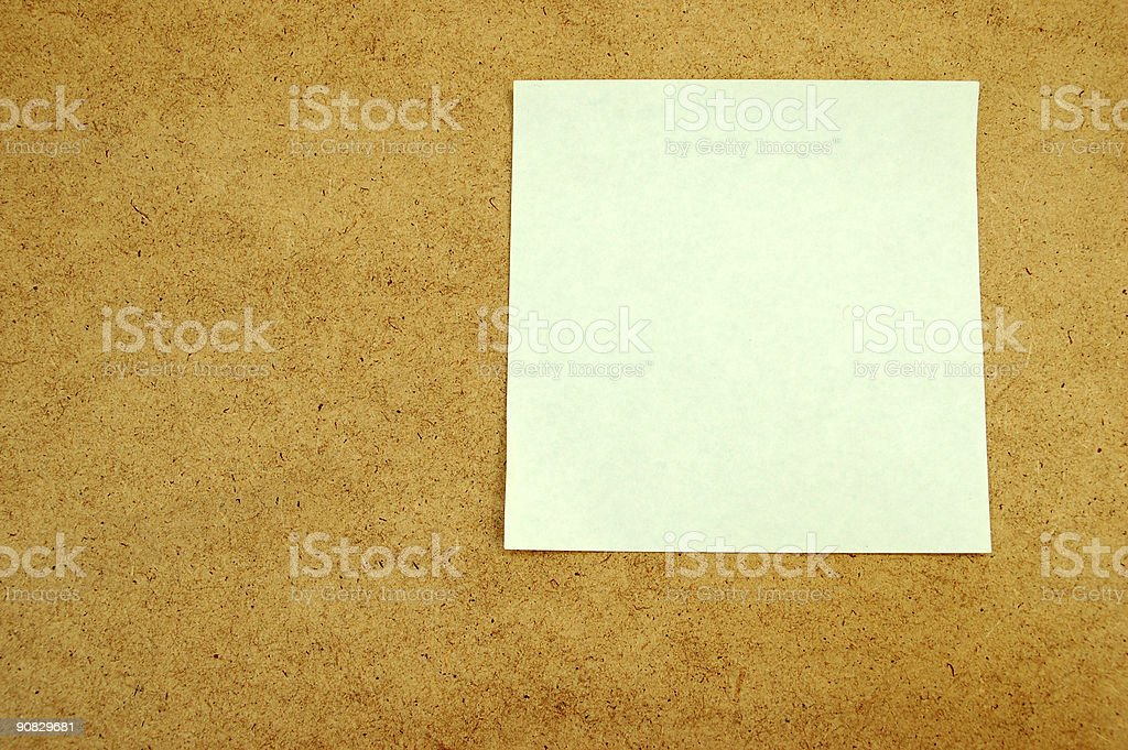 Notice board with post-it note #5 royalty-free stock photo
