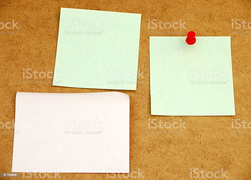 Notice board with post-it note #1 royalty-free stock photo