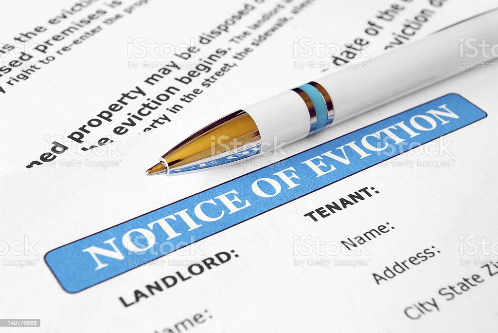 Notice of eviction royalty-free stock photo