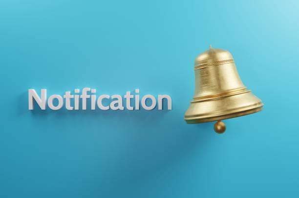 Notification stock photo
