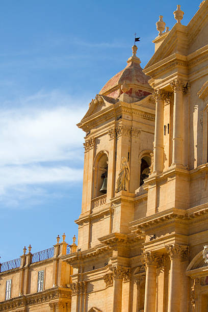 noto cathedral at sicily - noto sicily 個照片及圖片檔