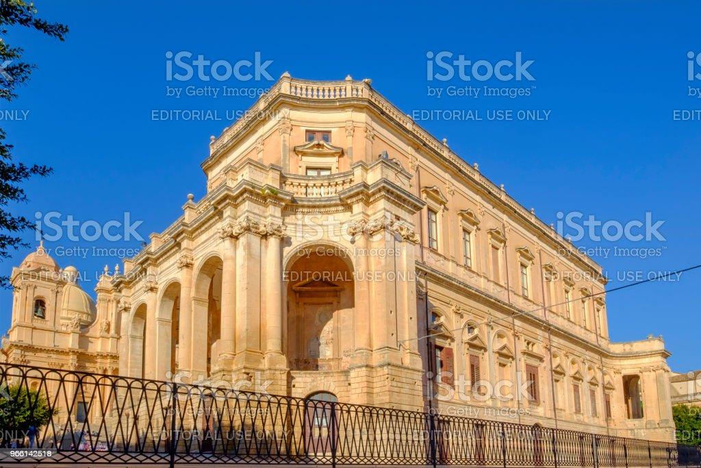 Noto City Hall, Palazzo Ducezio (Sicily, Italy) - Royalty-free Ao Ar Livre Foto de stock
