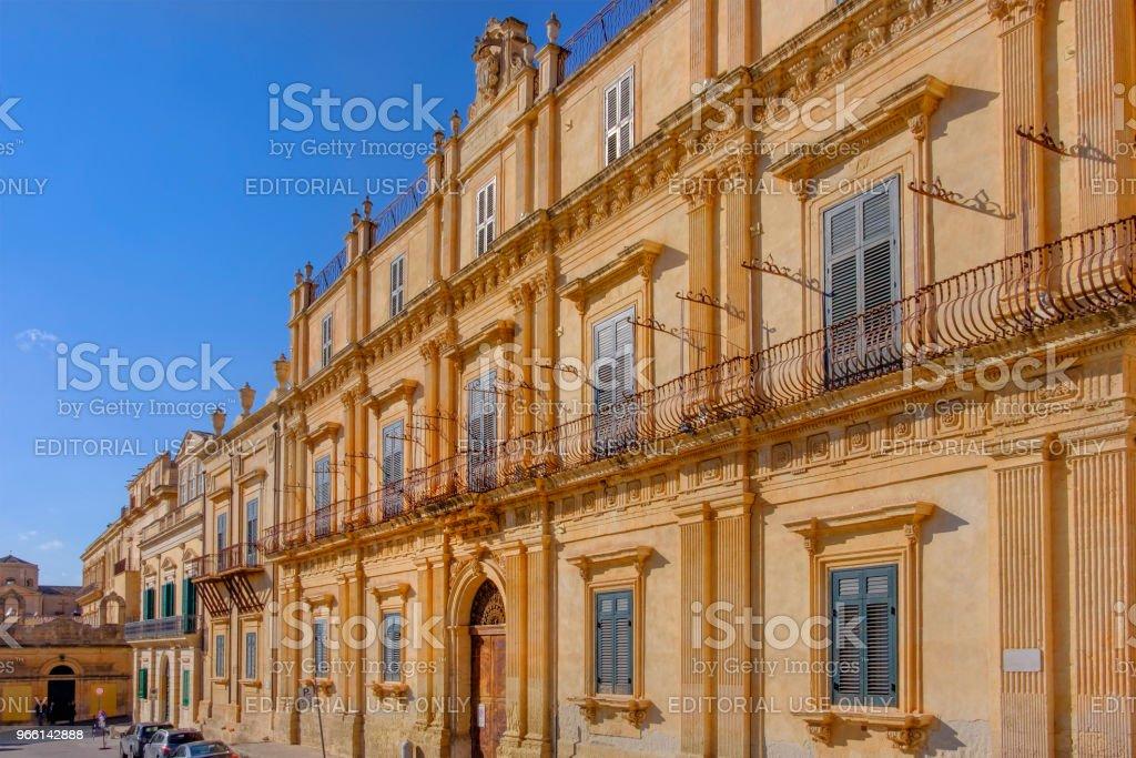 Noto (Sizilien, Italien) - Lizenzfrei Altstadt Stock-Foto