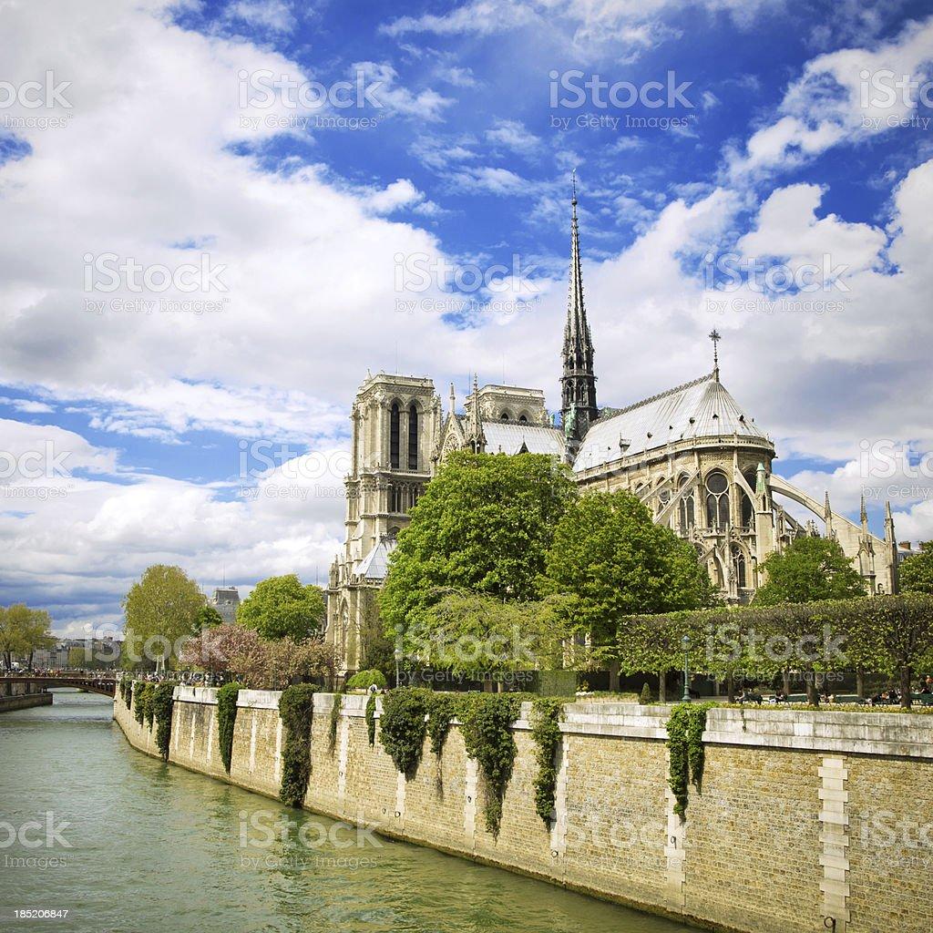 Notre Dame und Seine in Paris – Foto