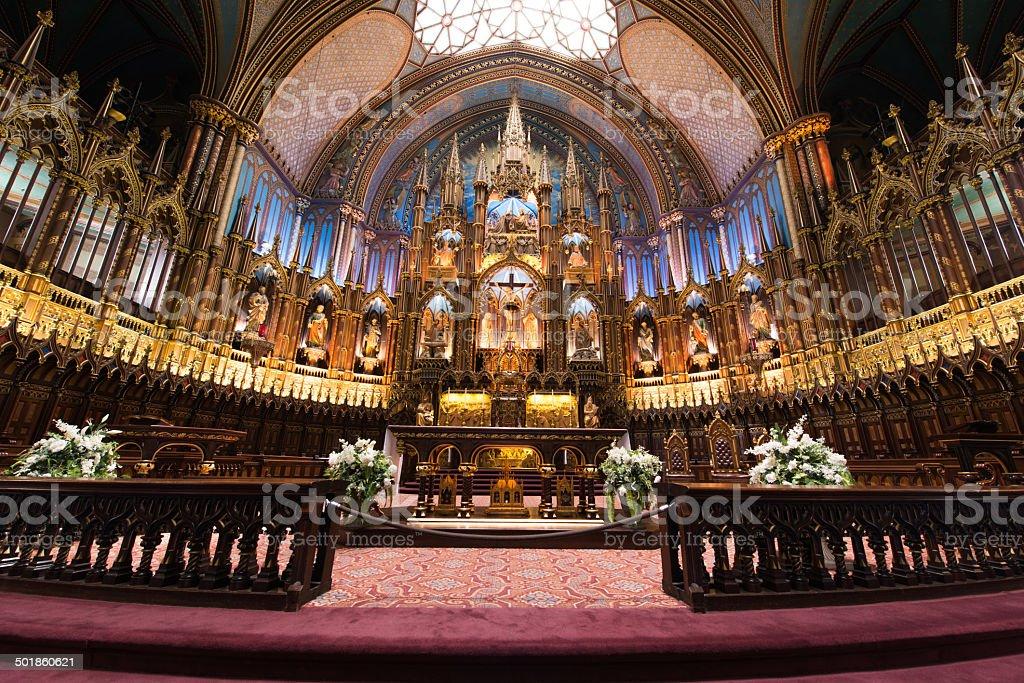 Notre Dame Basilica, Montreal, Quebec, Canada royalty-free stock photo
