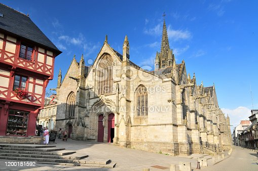 Basilique Notre Dame du Roncier in Josselin. Bretagne France.
