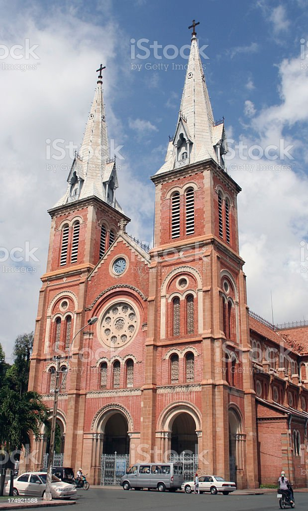 notre dame cathedral ho chi minh city royalty-free stock photo