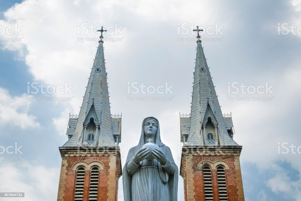 Notre Dame cathedral in Ho Chi Minh City, Vietnam stock photo