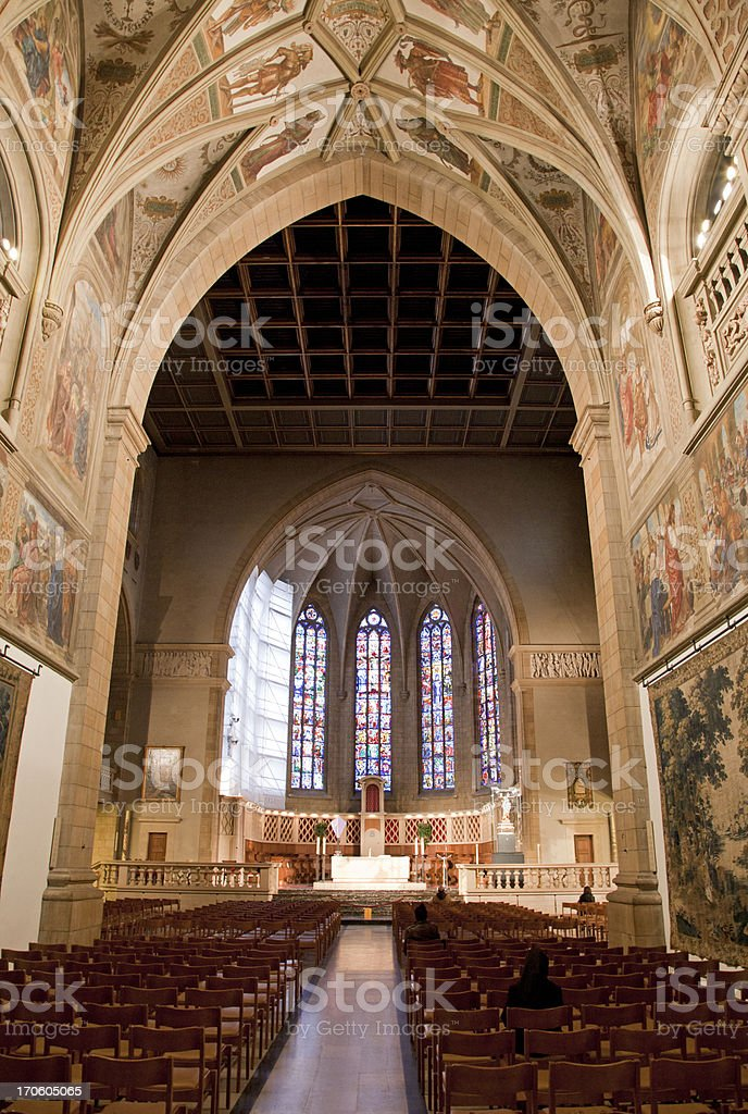 Notre Dame cathedral in Luxembourg stock photo