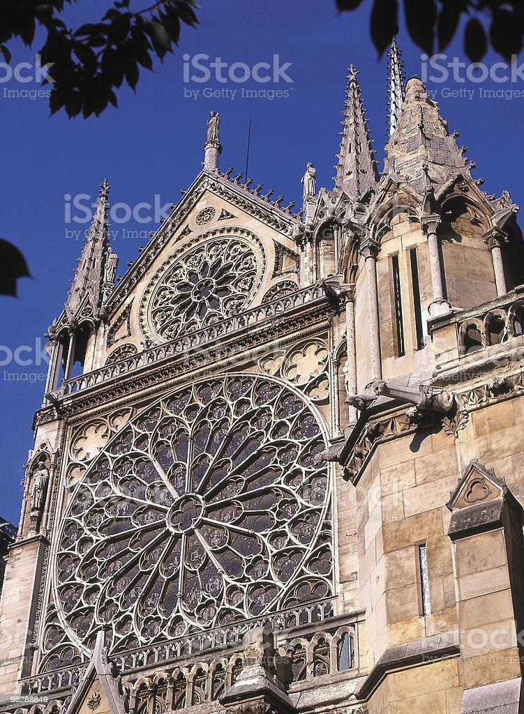 Cattedrale di Notre Dame a Parigi. La Francia foto stock royalty-free