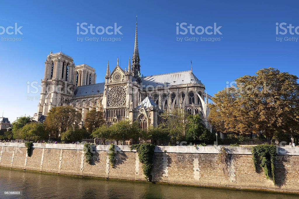 Notre Dame cathedral in Paris royalty-free stock photo