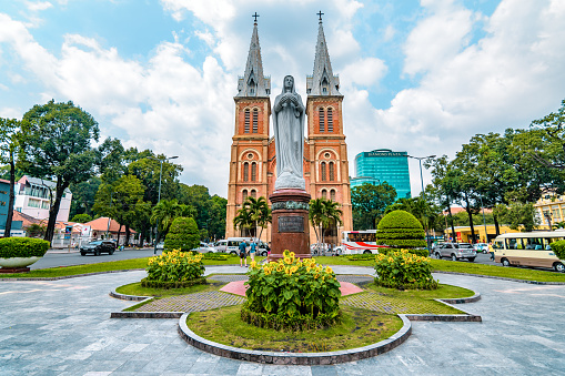Notre Dame Cathedral In Vietnam Stock Photo - Download Image Now