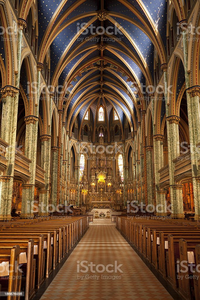 Notre Dame Cathedral Ottawa royalty-free stock photo