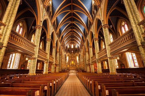 Cathedral Basilica of Notre Dame church in Ottawa Canada