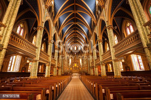 Cathedral Basilica of Notre Dame church in Ottawa Canada