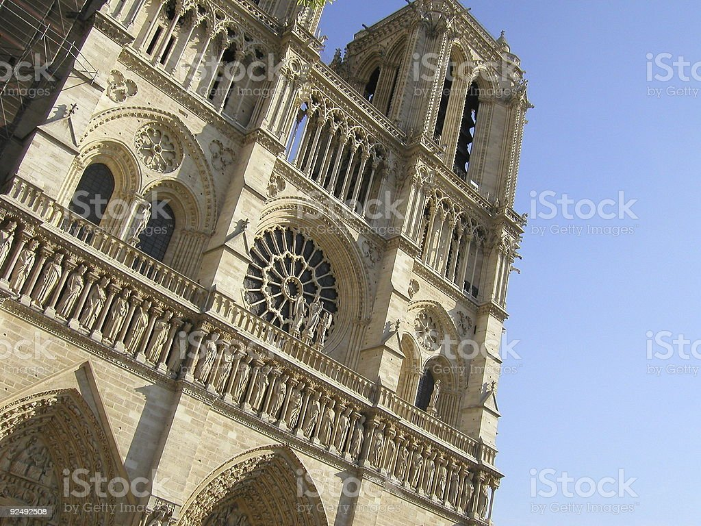 Notre Dame Cathedral, Paris, France. royalty-free stock photo