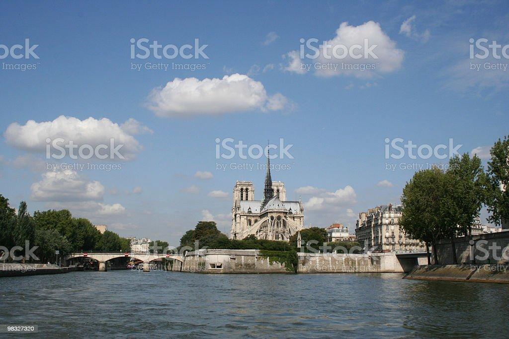 Cattedrale di Notre Dame, Parigi, Francia foto stock royalty-free
