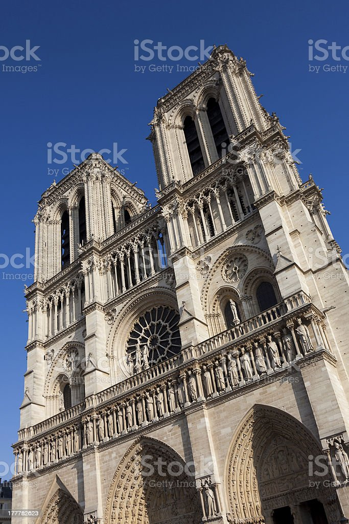 Notre dame cathedral, Paris royalty-free stock photo