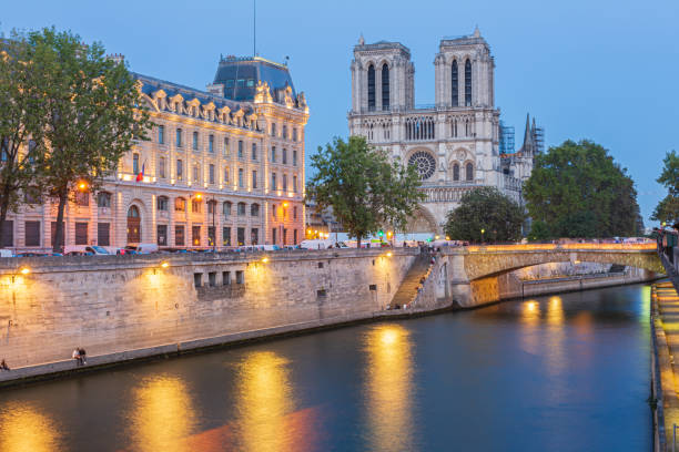 Catedral de Notre Dame - foto de stock