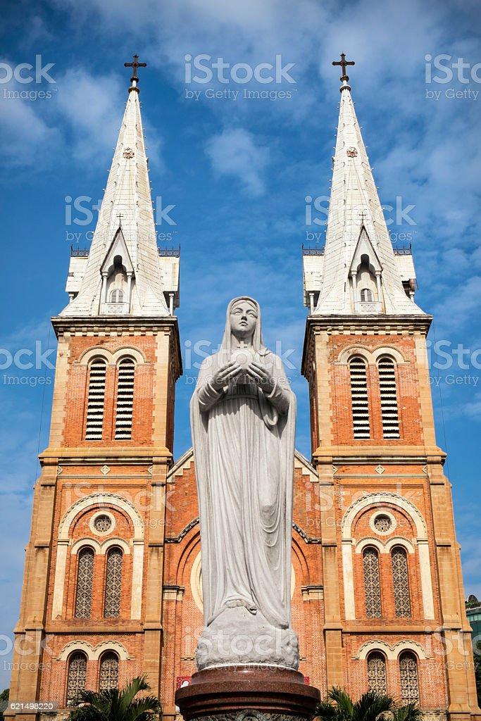 Notre Dame Cathedral, Saigon, Vietnam foto stock royalty-free