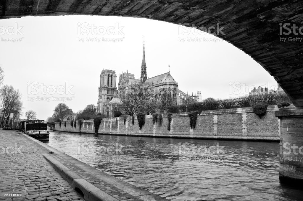 Notre Dame church in Paris royalty-free stock photo