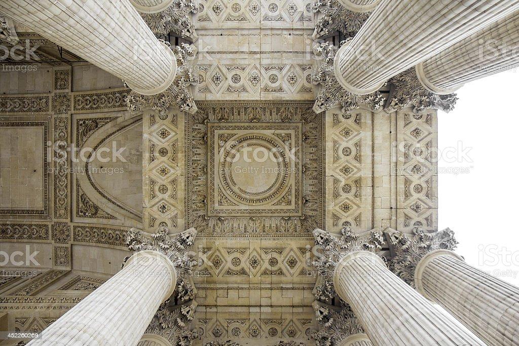 Notre Dame colonnade, Paris royalty-free stock photo