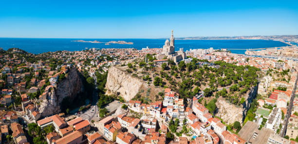 Notre Dame de la Garde, Marseille stock photo