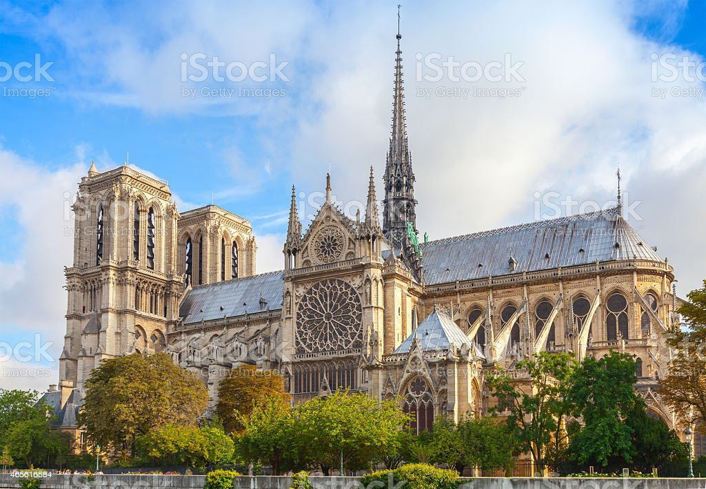 Notre Dame De Paris Cathedral France Stock Photo Download Image