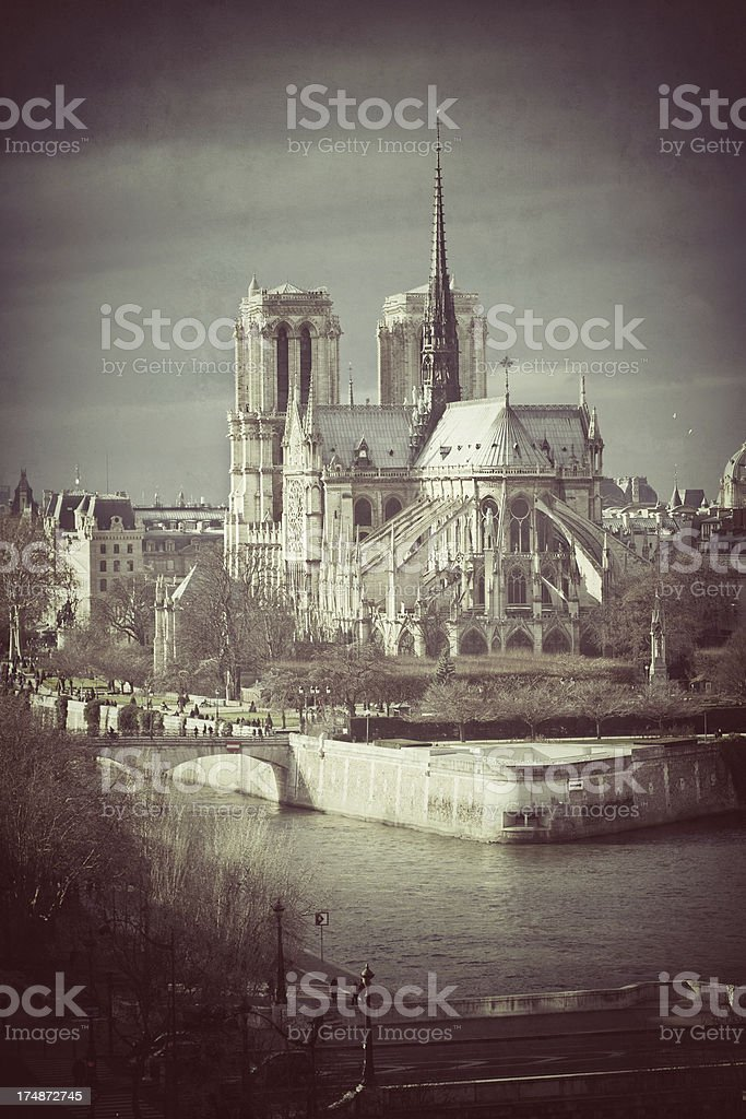 Notre Dame de Paris, France royalty-free stock photo