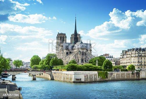 istock Notre Dame de Paris, France 487457294