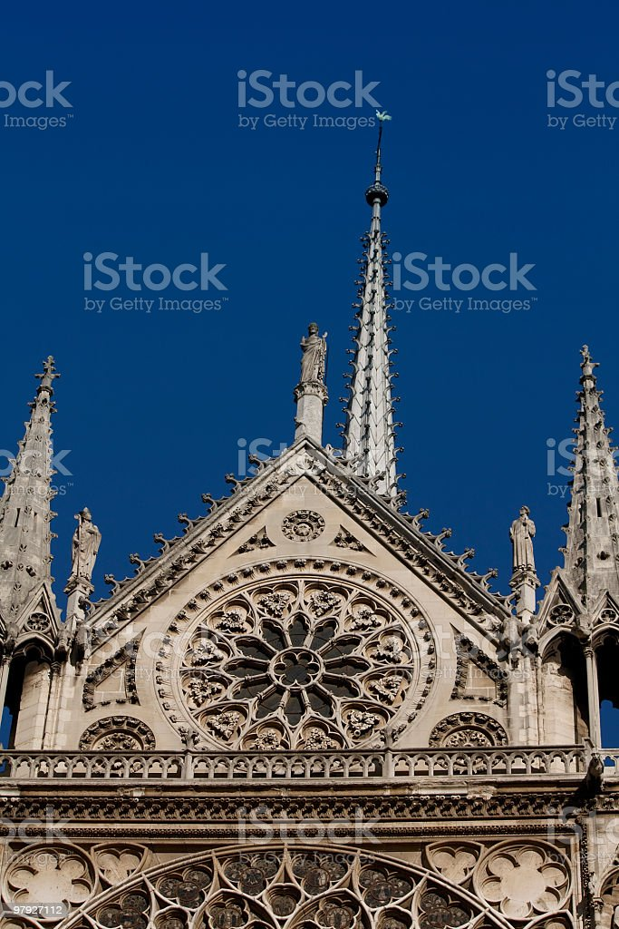 Notre Dame de paris ,France royalty-free stock photo