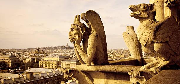 notre dame de paris - montmatre utsikt bildbanksfoton och bilder