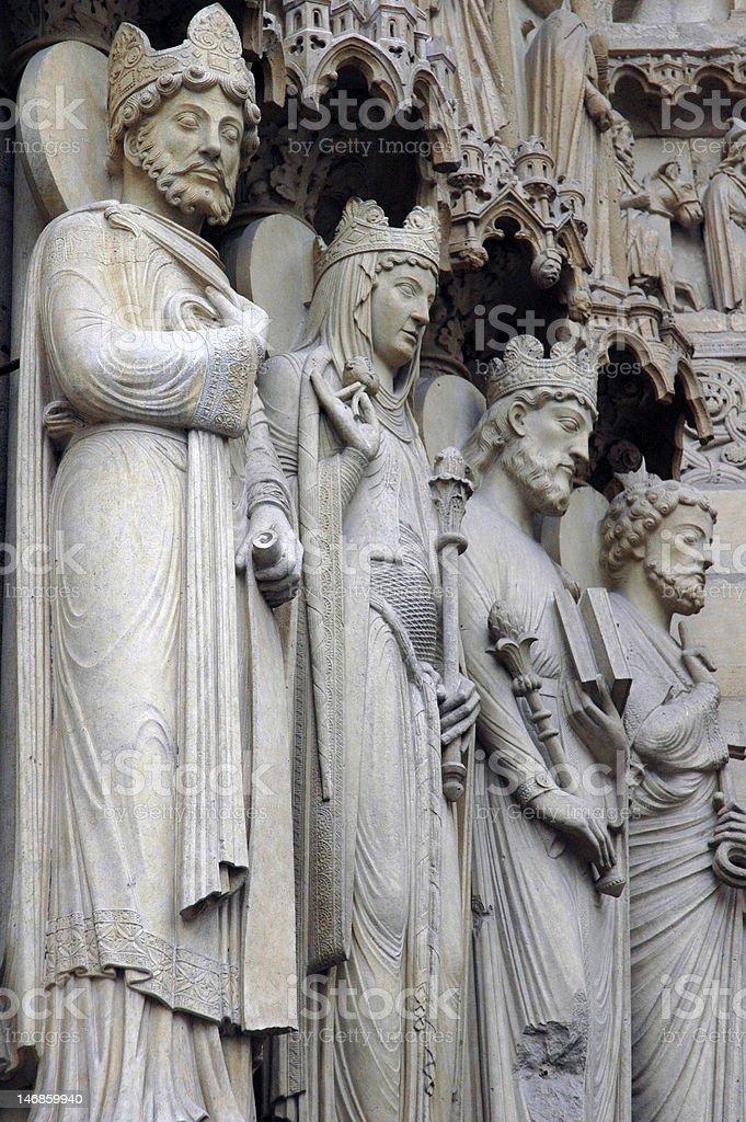 Notre Dame de Paris - Portal stock photo