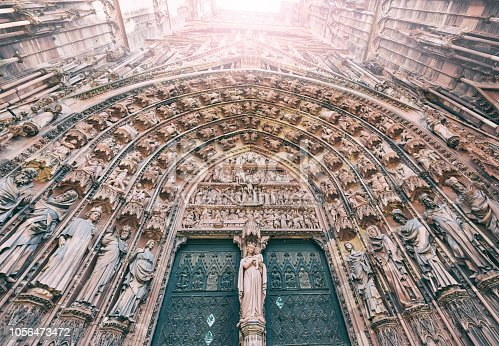Strasbourg Cathedral or the Cathedral of Our Lady of Strasbourg, also known as Strasbourg Minster, is a Roman Catholic cathedral in Strasbourg, Alsace, France