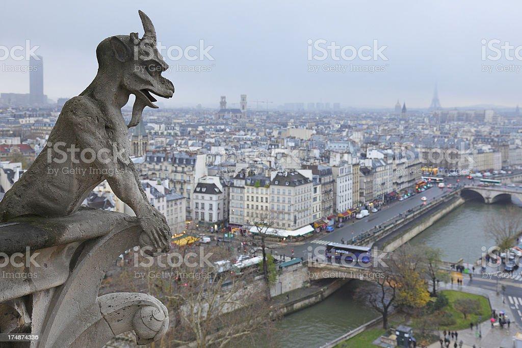 Notre Dame Gargoyle royalty-free stock photo