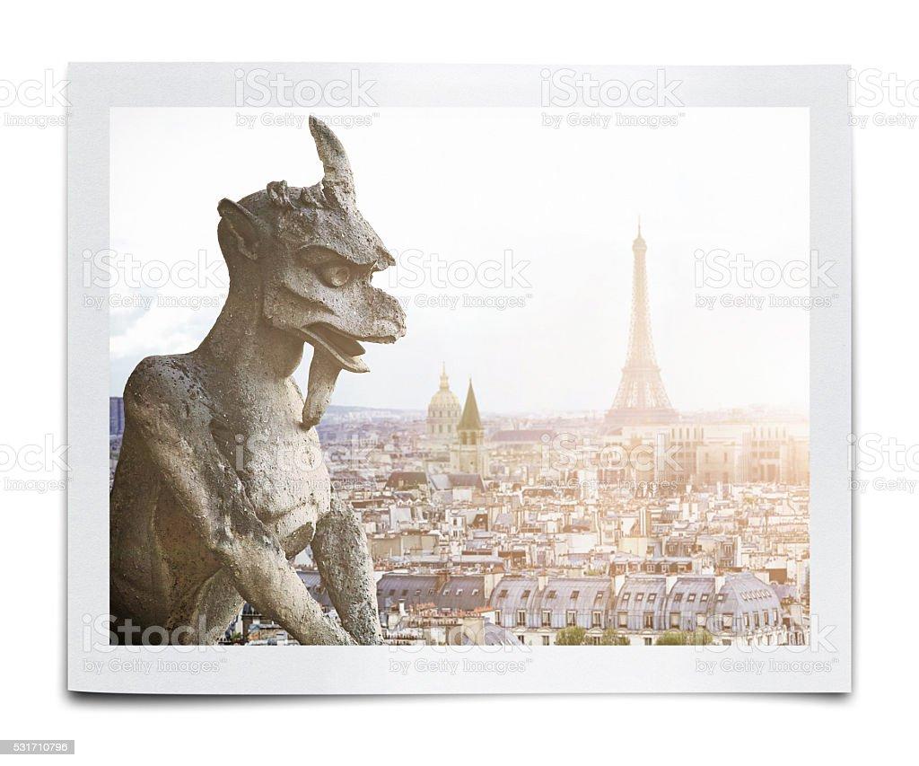 Fotografía de Notre Dame Gárgola Estatua y más banco de imágenes de ...