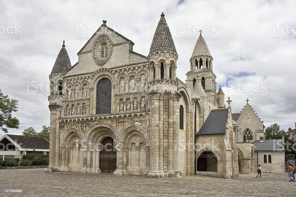 Notre Dame la Grande, Poitiers stock photo