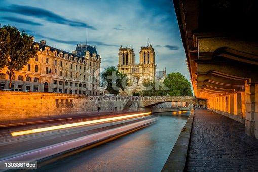 istock Notre Dame, Paris and River Seine, France 1303361655