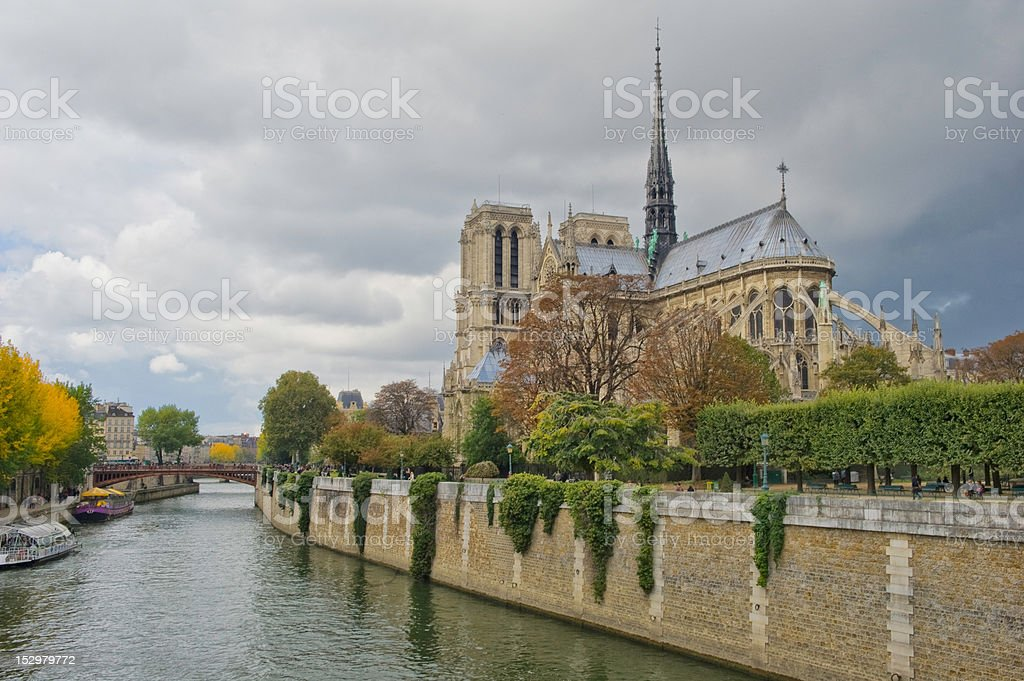 Notre Dame Paris, France stock photo