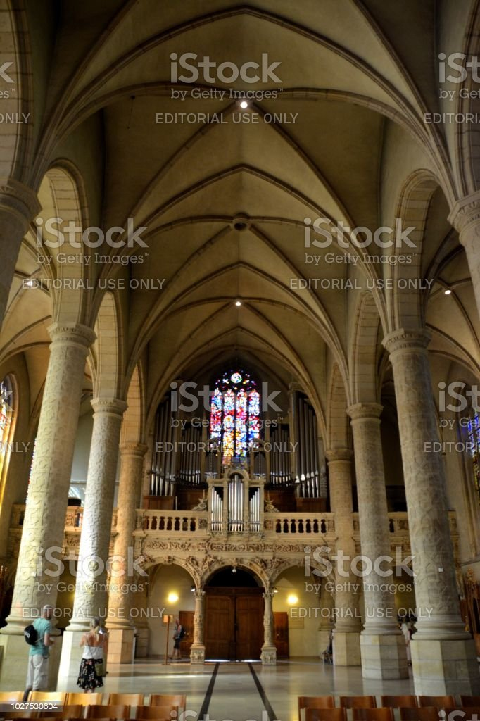 Notre-Dame Cathedral in Luxembourg City stock photo