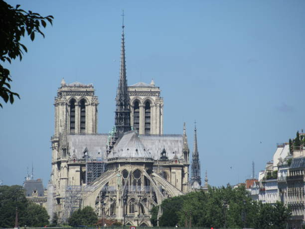 Notre-Dame Cathedral in Paris stock photo