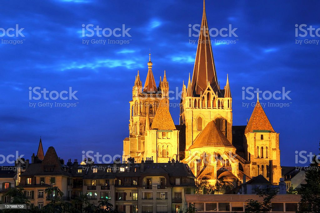 Notre-Dame Cathedral of Lausanne, Switzerland royalty-free stock photo