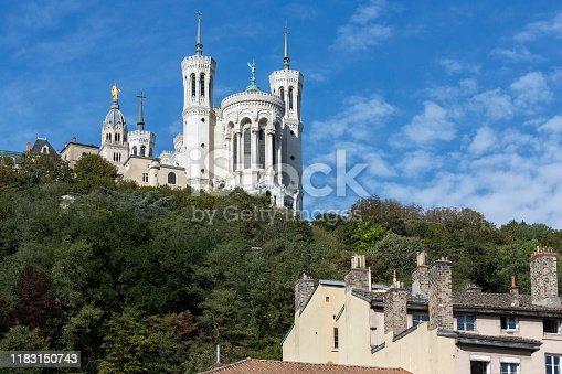 Notre-Dame de Fourvière church in Lyon, France